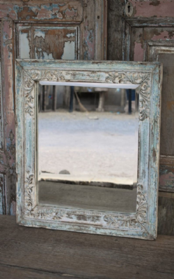 Bevelled mirror made from  an early 19th century window, Gujarat <b>SOLDD<b>